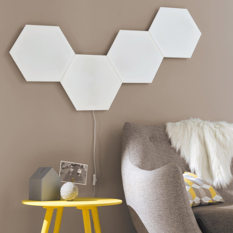Top Panneau LED, design led intégrée Puzzle plastique Blanc, 1 INSPIRE  XF31