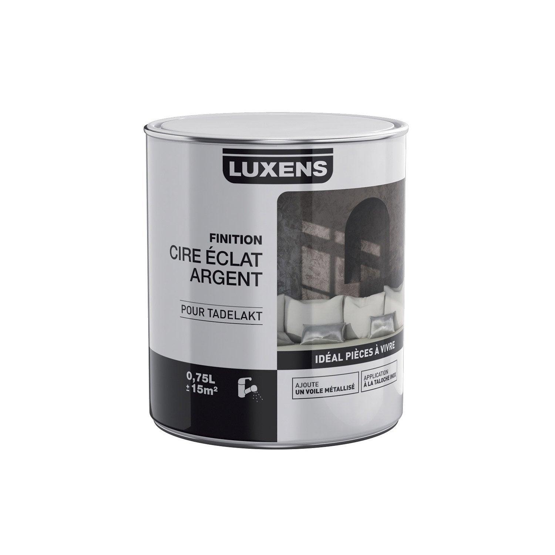 Peinture effet cire clat argent tadelakt luxens - Peinture effet vieilli leroy merlin ...