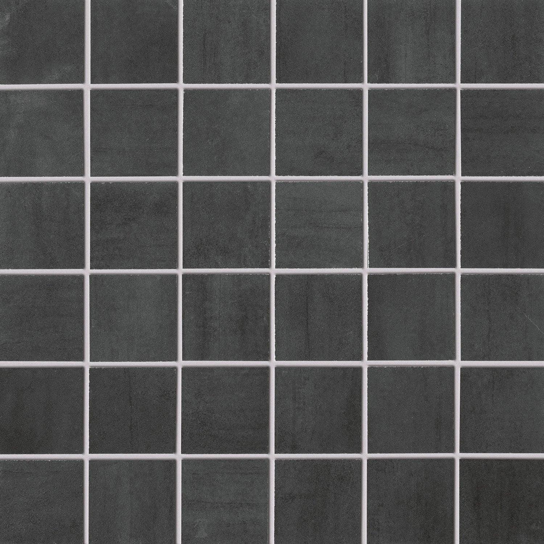 Mosa que sol et mur eiffel gris fonc leroy merlin for Carrelage gris fonce