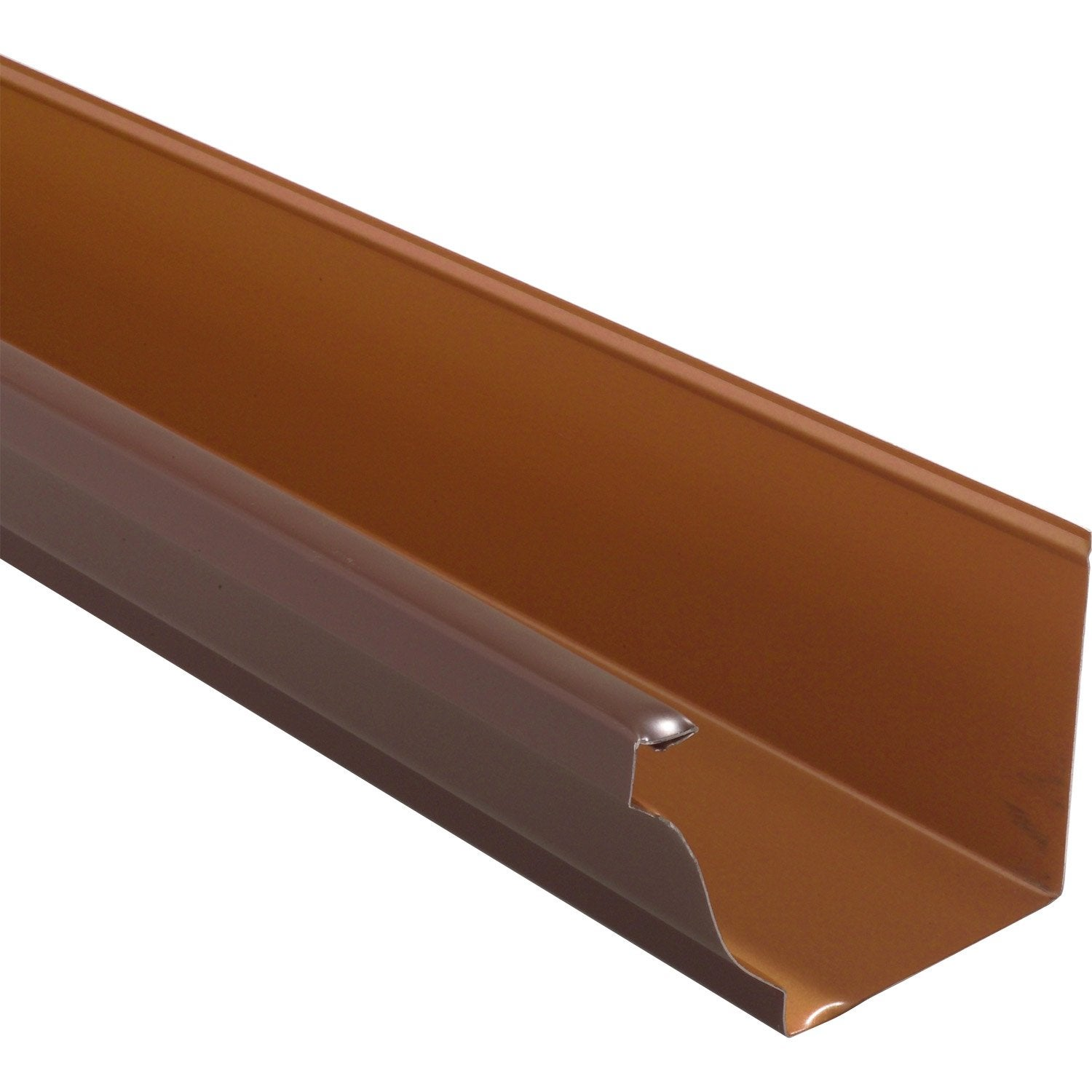 Goutti re aluminium scover plus d cm marron l 2 m for Tube rectangulaire alu leroy merlin