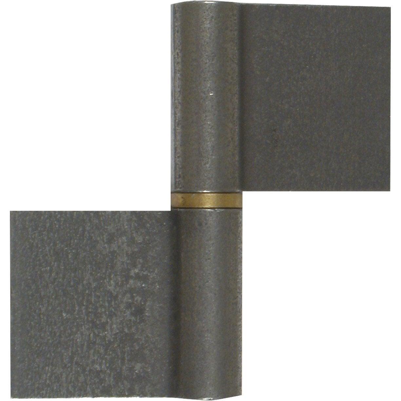 Paumelle de grille acier brut x x mm leroy merlin - Rayonnages metalliques leroy merlin ...