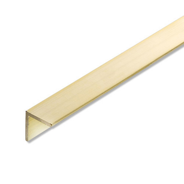 Corni re gale laiton brut l 1 m x l 2 cm x h 2 cm for Converse logo interieur ou exterieur