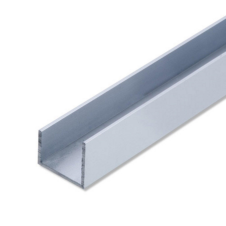 Cimaise aluminium anodis l 1 m x l 2 2 cm x h 2 2 cm for Malette aluminium leroy merlin