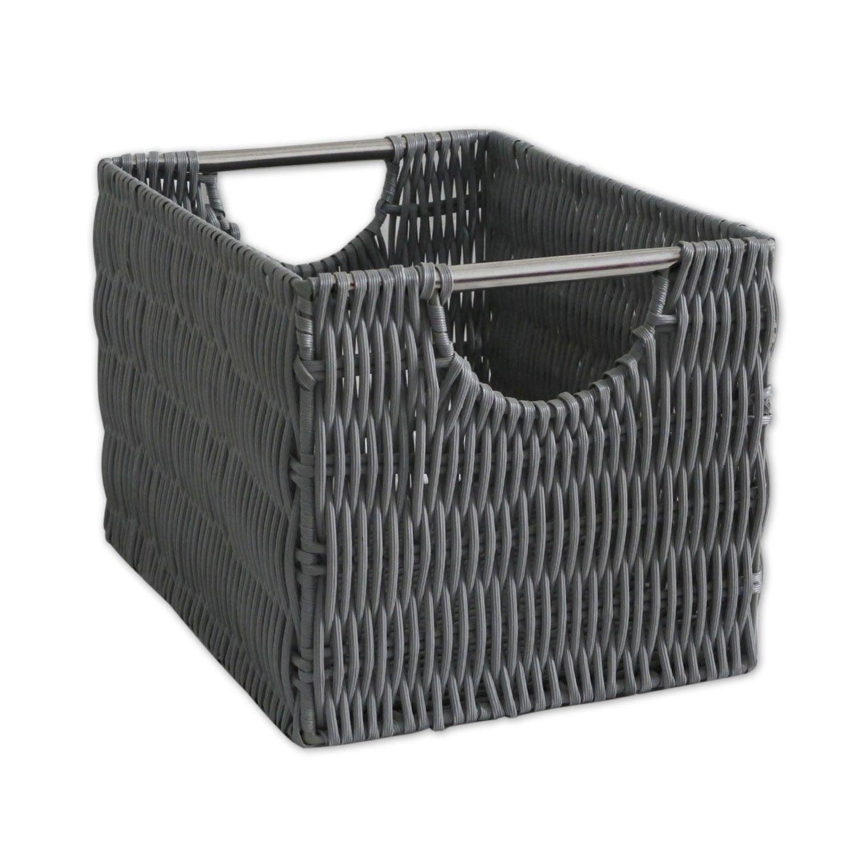panier en plastique gris galet 3 bombay leroy merlin. Black Bedroom Furniture Sets. Home Design Ideas
