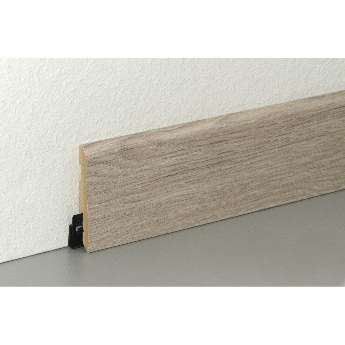 Plinthe sol stratifi d cor n 50 cm x x mm leroy merlin for Peinture v pour parquet stratifie