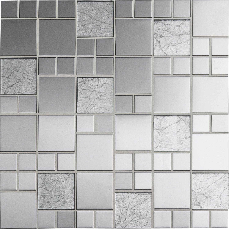 Mosa que cubic verre gris leroy merlin - Mosaique leroy merlin ...