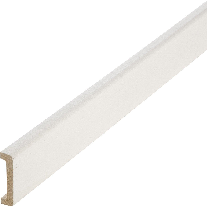 Nez de cloison m dium mdf pour cloison de 50 mm blanc 11 x 53 mm l 2 5 m leroy merlin - Nez de cloison bois ...