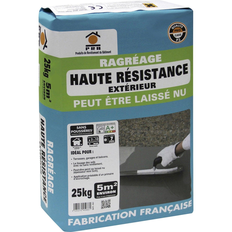 Ragr age sol ext rieur prb 25 kg leroy merlin for Ragreage autolissant sur carrelage