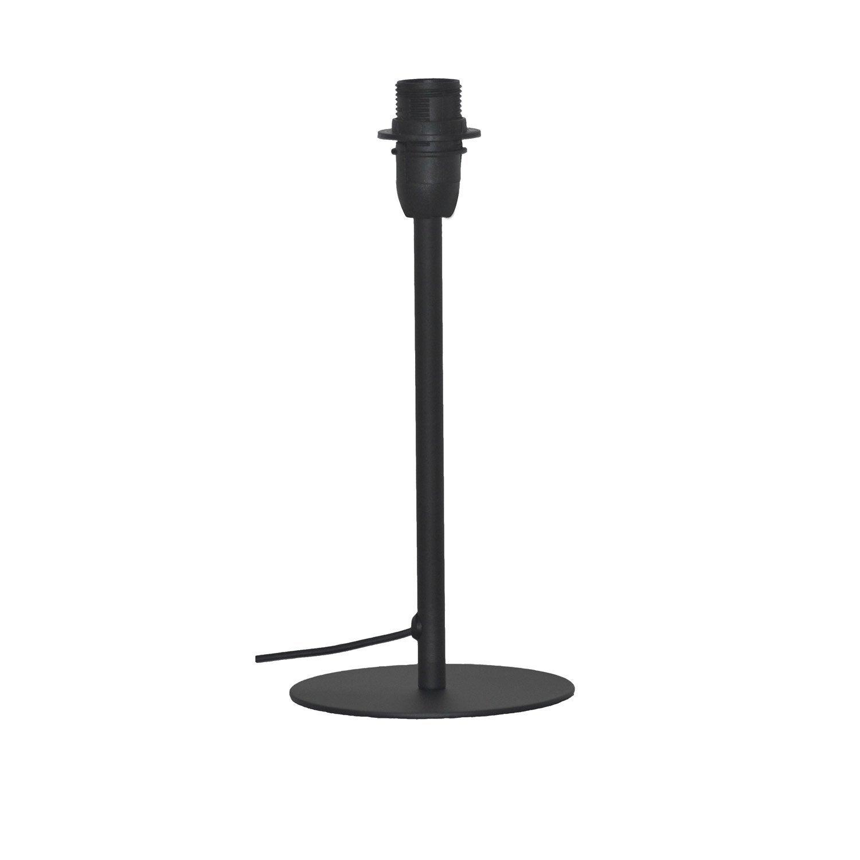 Pied de lampe ceres m tal noir mat 26 cm inspire for Lampe de chevet chez leroy merlin