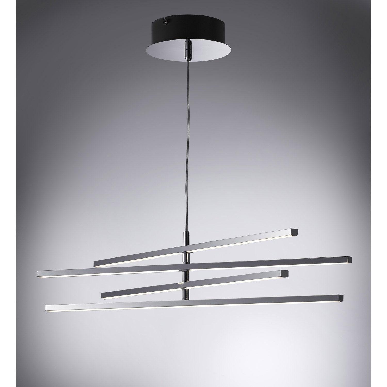 suspension led int gr e design concord plastique argent 4. Black Bedroom Furniture Sets. Home Design Ideas