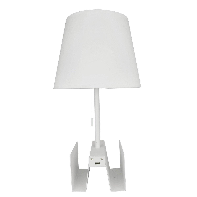 lampe stanton inspire coton 60 w leroy merlin. Black Bedroom Furniture Sets. Home Design Ideas