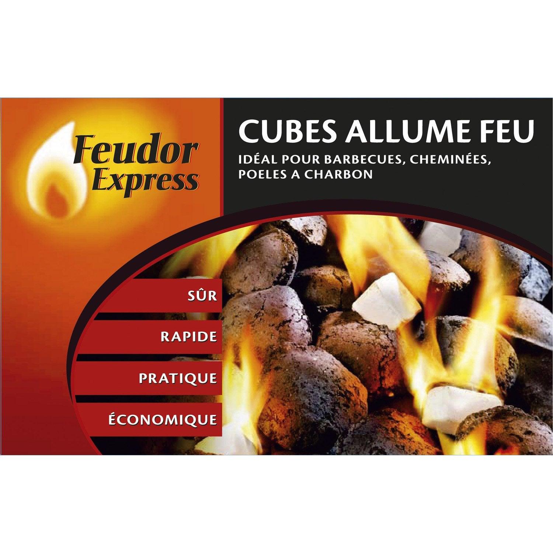 allume feux feudor express 32 cubes leroy merlin. Black Bedroom Furniture Sets. Home Design Ideas