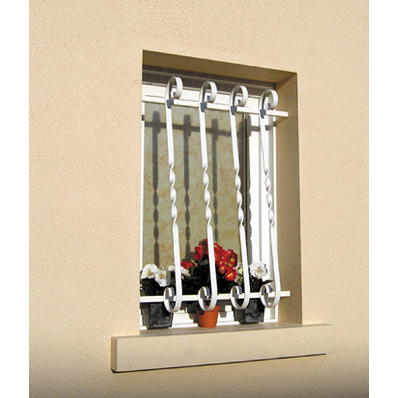 grille de d fense pour fen tre provence x cm leroy merlin. Black Bedroom Furniture Sets. Home Design Ideas