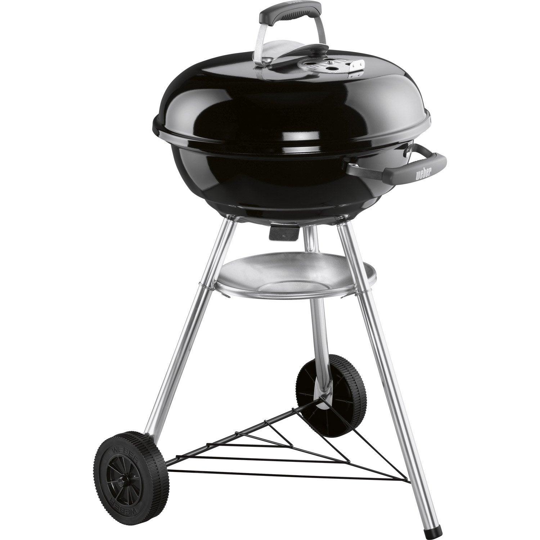Barbecue au charbon de bois weber compact kettle 47cm for Barbecue weber gaz leroy merlin