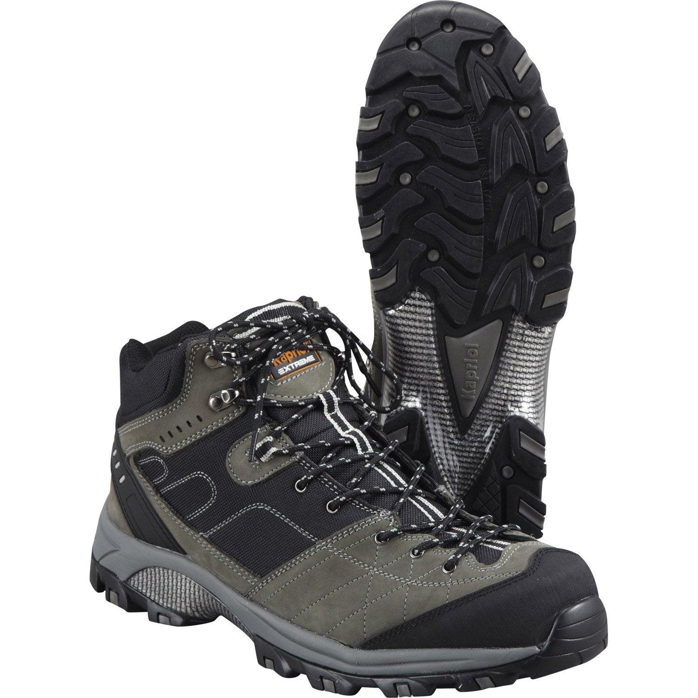 chaussures de s curit hautes kapriol dakota coloris gris noir t41 leroy merlin. Black Bedroom Furniture Sets. Home Design Ideas