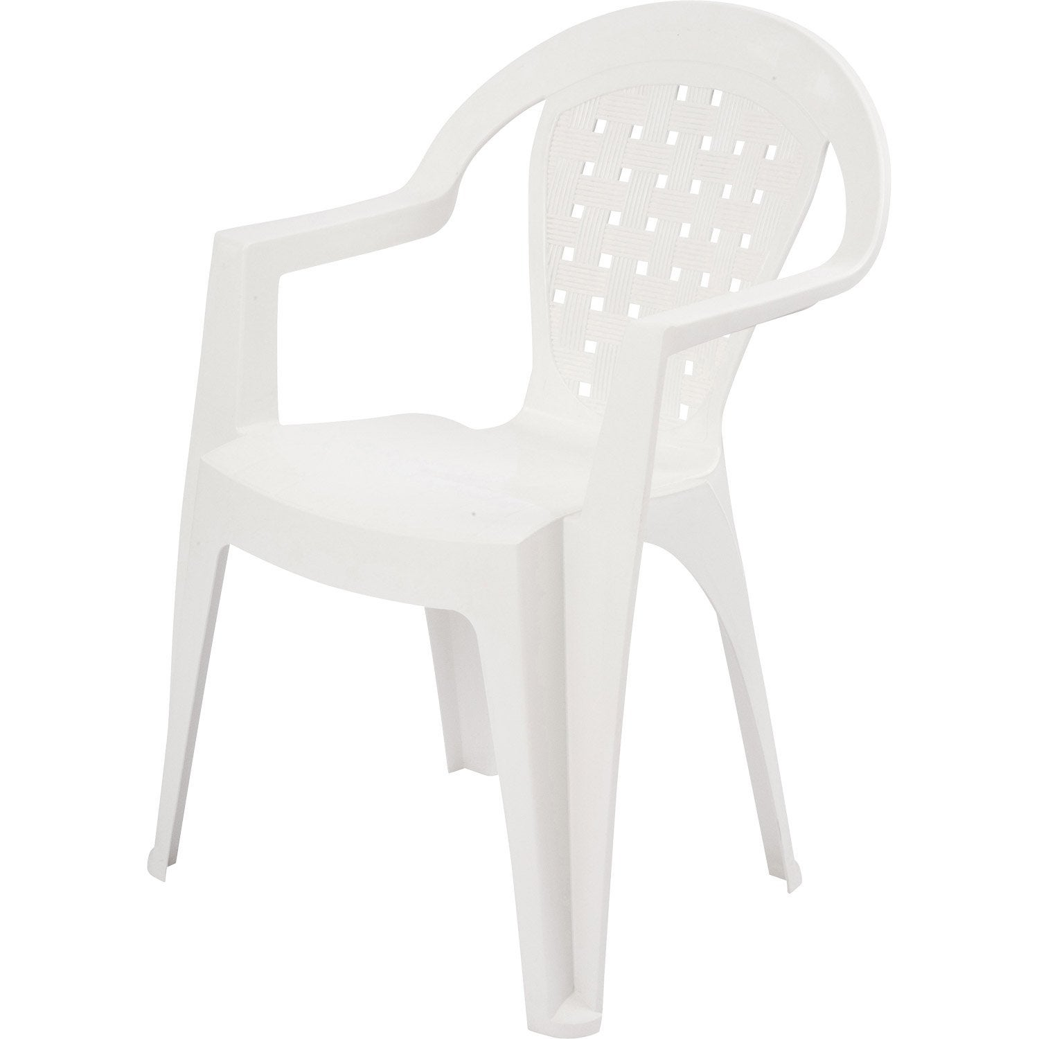 fauteuil de jardin en r sine miami blanc leroy merlin. Black Bedroom Furniture Sets. Home Design Ideas
