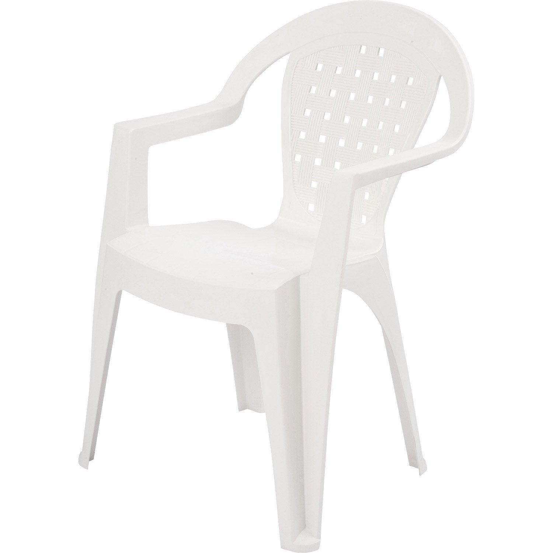 fauteuil de jardin en r sine miami blanc leroy merlin. Black Bedroom Furniture Sets. Home Design Ideas