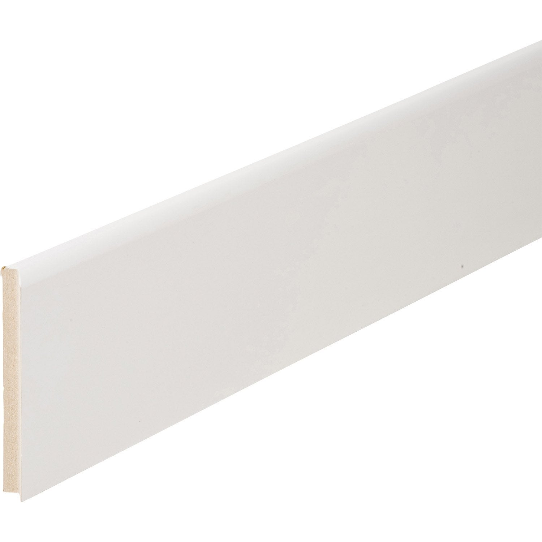 plinthe m dium mdf arrondie rev tu m lamin blanc 16 x. Black Bedroom Furniture Sets. Home Design Ideas