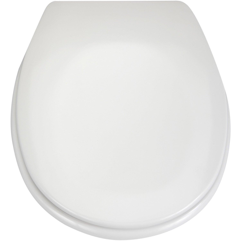abattant frein de chute blanc plastique thermodur sensea. Black Bedroom Furniture Sets. Home Design Ideas