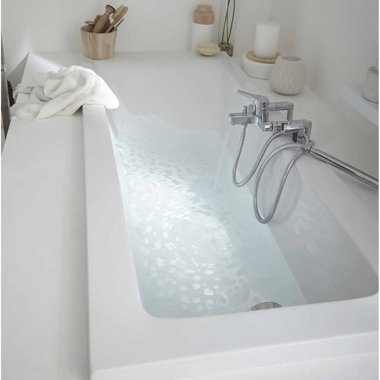Baignoire rectangulaire cm blanc sensea - Reemaillage baignoire leroy merlin ...