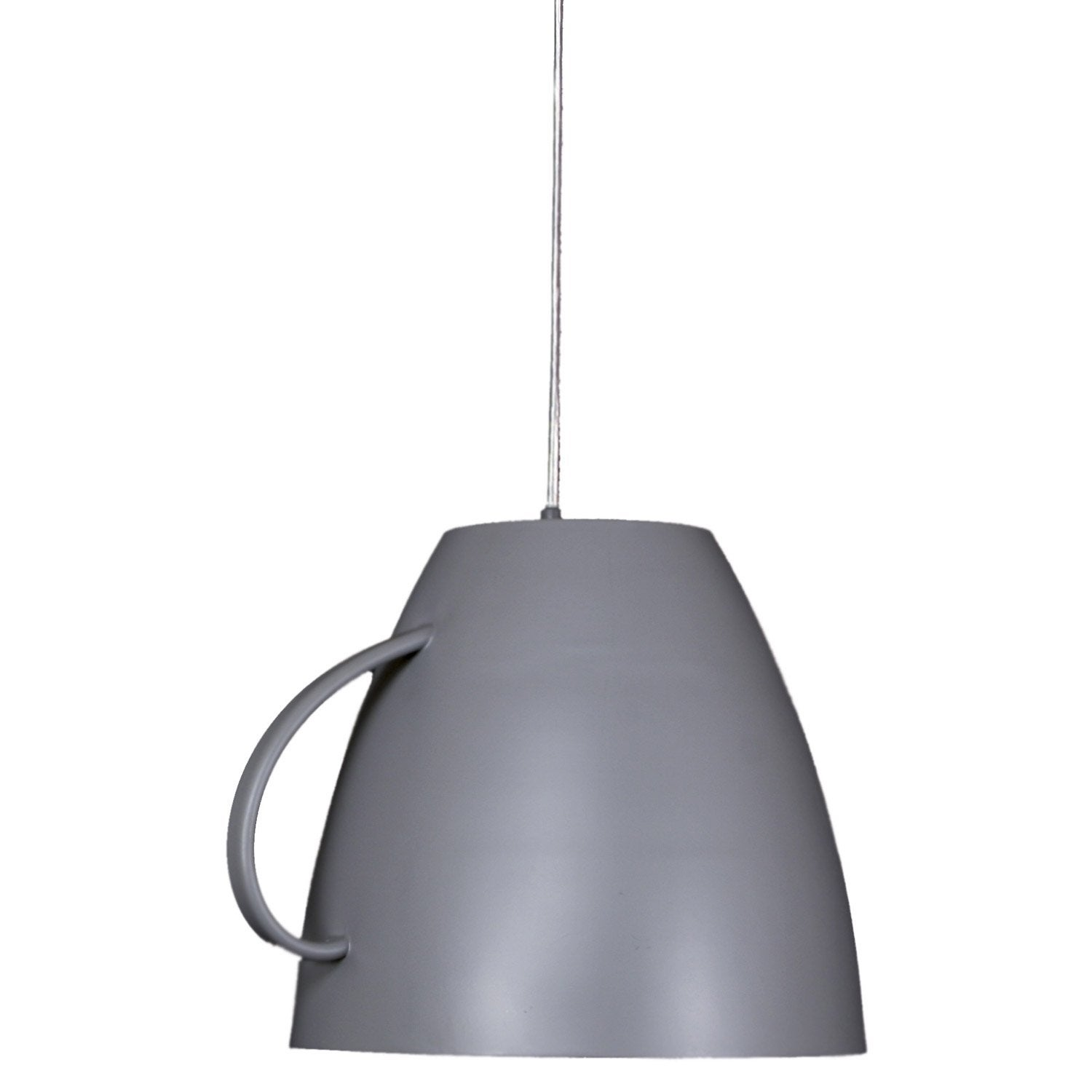 Suspension classique dej m tal gris 1 x 60 w sampa helios for Suspension metal cuisine