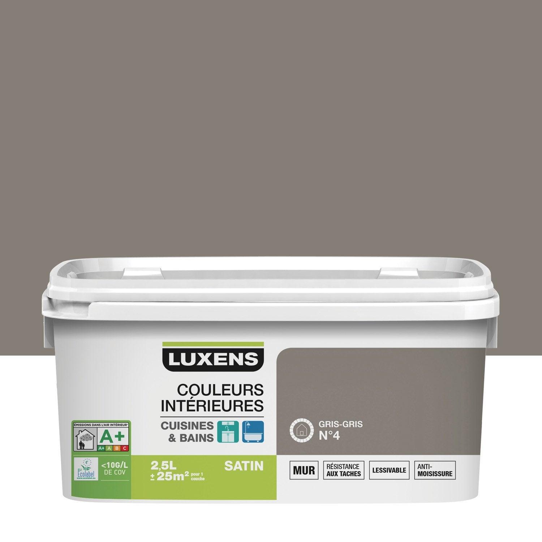 Peinture couleurs int rieures luxens gris gris 4 2 5 l - Leroy merlin bay 2 ...
