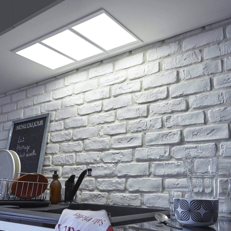 Panneau led integree 30 x 20 cm rio inspire 5 w blanc for Carrelage adhesif salle de bain avec panneau led eclairage