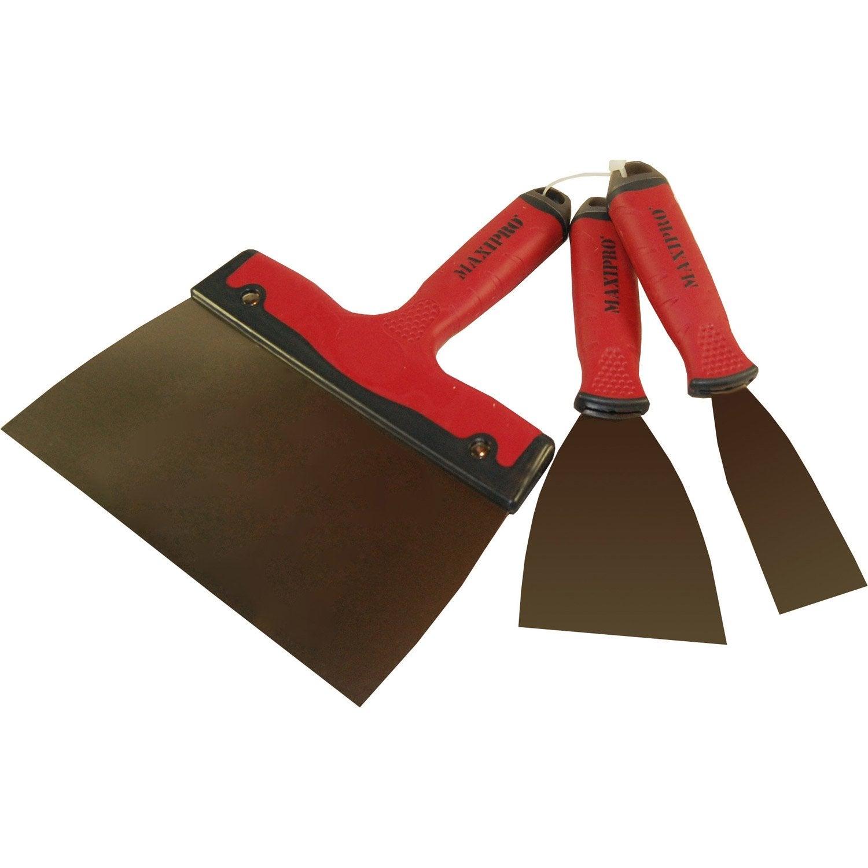 couteau enduire acier inoxydable lot de 3 couteaux bi. Black Bedroom Furniture Sets. Home Design Ideas