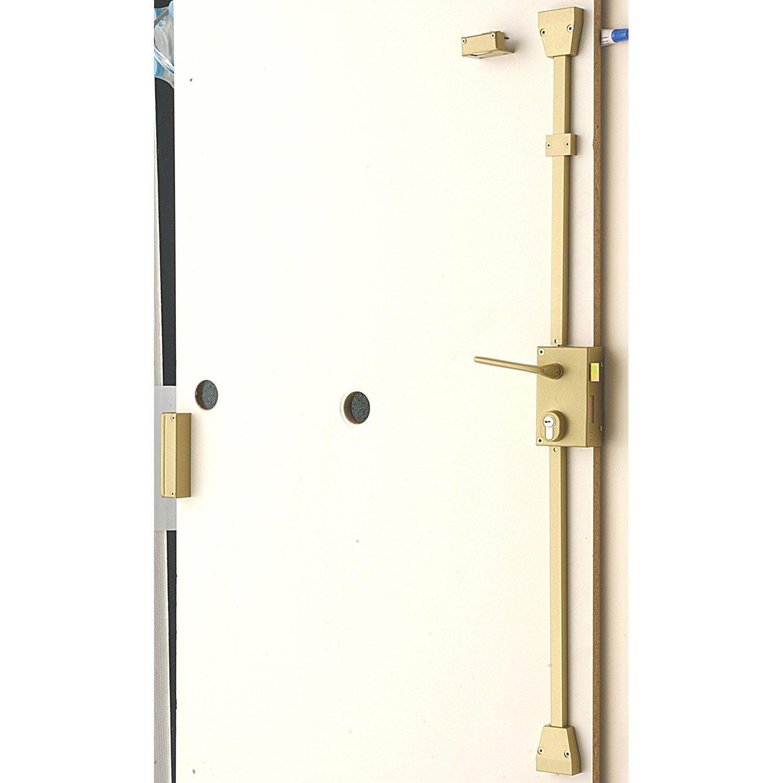 Serrure en applique multipoint bricard poign e droite - Barre de securite pour porte de garage coulissante ...