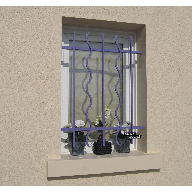 grille de d fense pour fen tre s rie lazure haut 65 x larg 90 cm leroy merlin. Black Bedroom Furniture Sets. Home Design Ideas