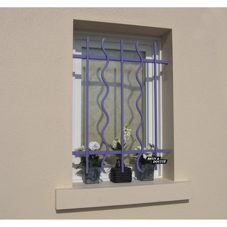 grille de d fense pour fen tre s rie lazure haut 50 x larg 110 cm leroy merlin. Black Bedroom Furniture Sets. Home Design Ideas