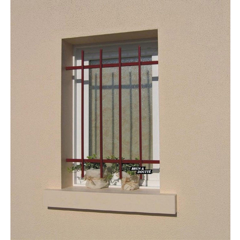 grille de d fense pour fen tre mistral x cm leroy merlin. Black Bedroom Furniture Sets. Home Design Ideas