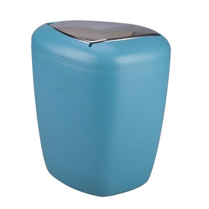 Poubelle de salle de bains 6l stone bleu atoll n 4 leroy for Poubelle salle de bain leroy merlin