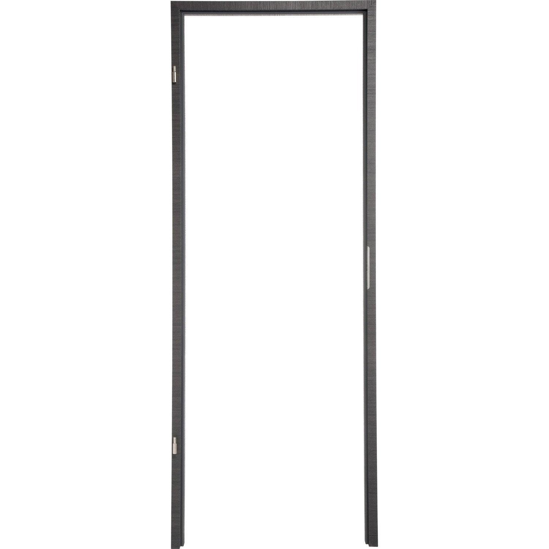 b ti pour porte londres 83 cm poussant droit d cor ch ne gris leroy merlin. Black Bedroom Furniture Sets. Home Design Ideas