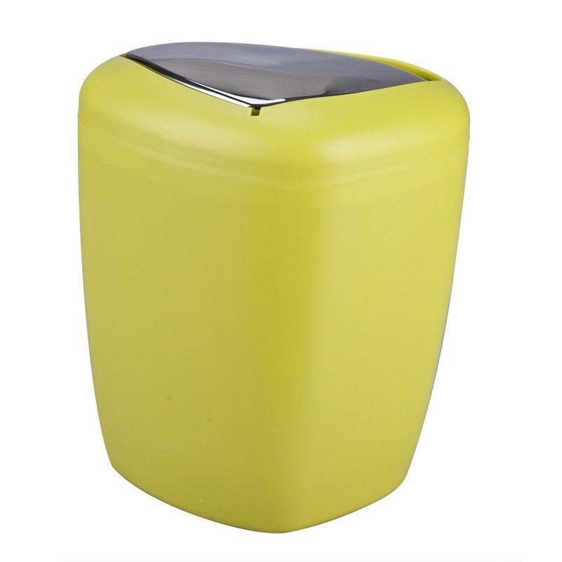 Poubelle de salle de bains 6l stone jaune anis n 3 leroy for Poubelle salle de bain leroy merlin