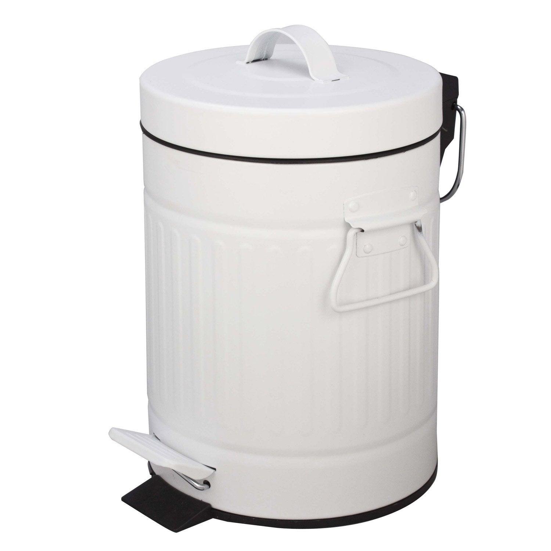 Poubelle de salle de bains 3L Street blanc blanc n°0  Leroy Merlin