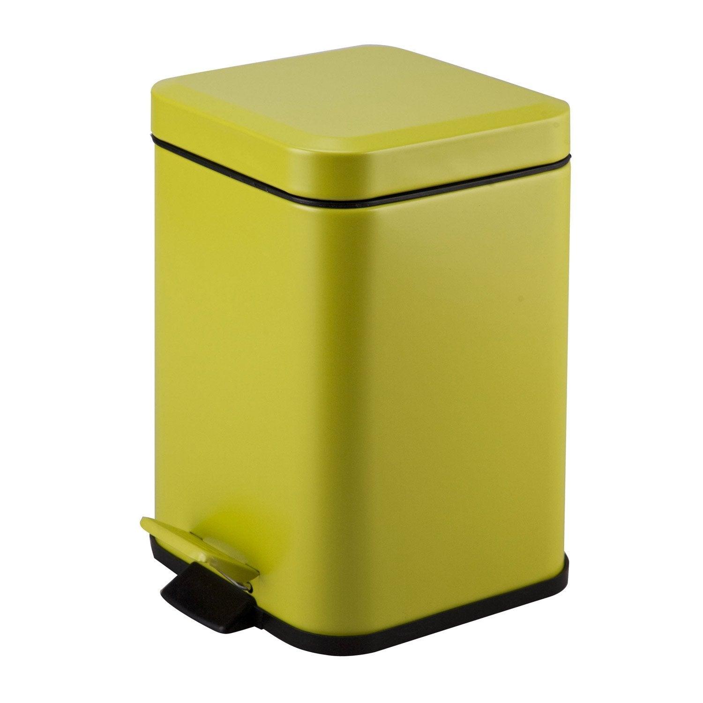 poubelle de salle de bains 3 l jaune anis n 3 sensea kub leroy merlin. Black Bedroom Furniture Sets. Home Design Ideas