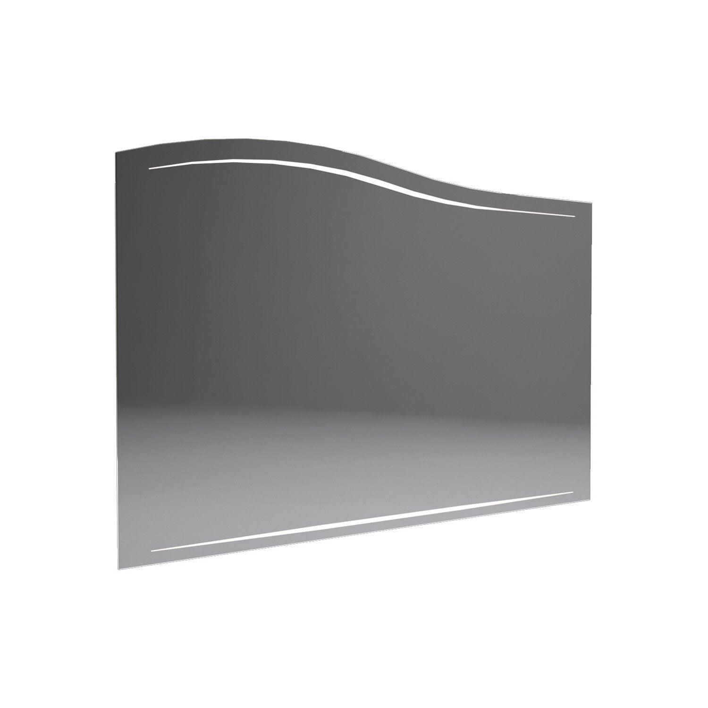 miroir avec clairage int gr decotec el gance cm leroy merlin. Black Bedroom Furniture Sets. Home Design Ideas