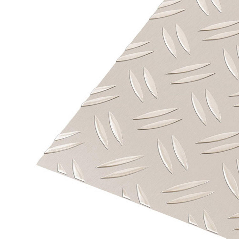 t le aluminium grain de riz anodis argent x cm ep 1 5 mm leroy merlin. Black Bedroom Furniture Sets. Home Design Ideas