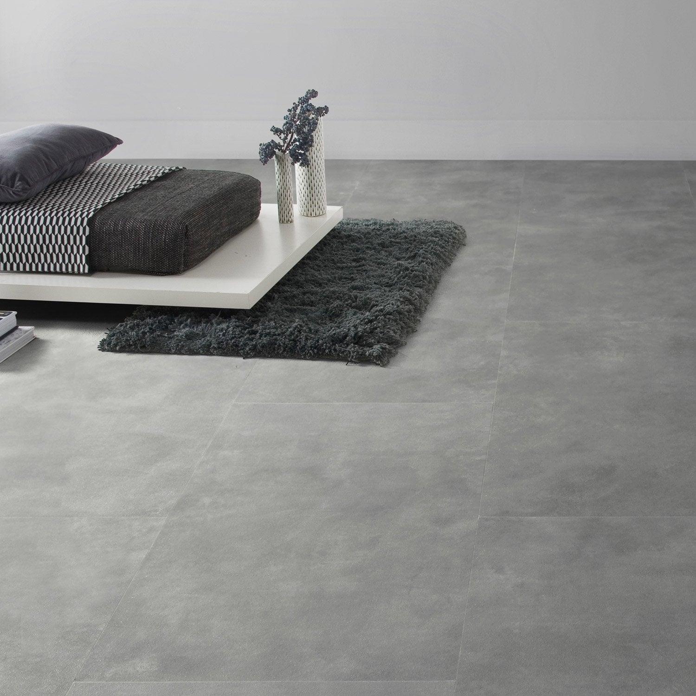 dalle pvc clipsable gris industry dark senso lock gerflor leroy merlin. Black Bedroom Furniture Sets. Home Design Ideas
