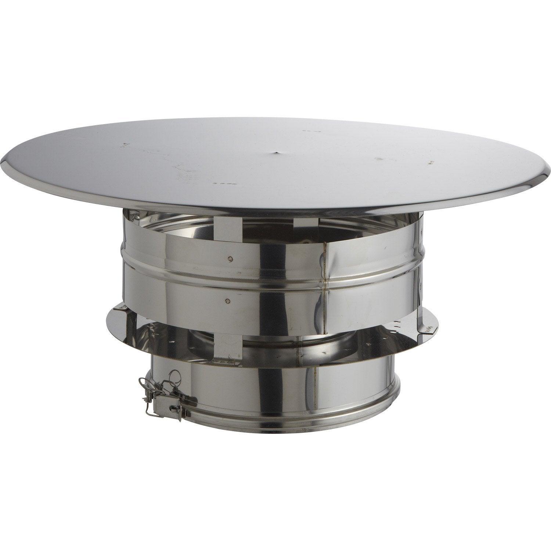 Chapeau aspirateur isotip joncoux 230 mm leroy merlin for Chapeau de conduit de cheminee