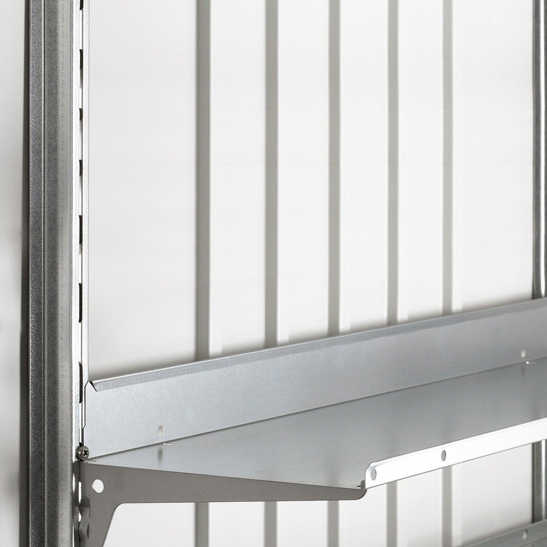 Fixation verticale acier galvanis biohort avgarde for Biohort leroy merlin