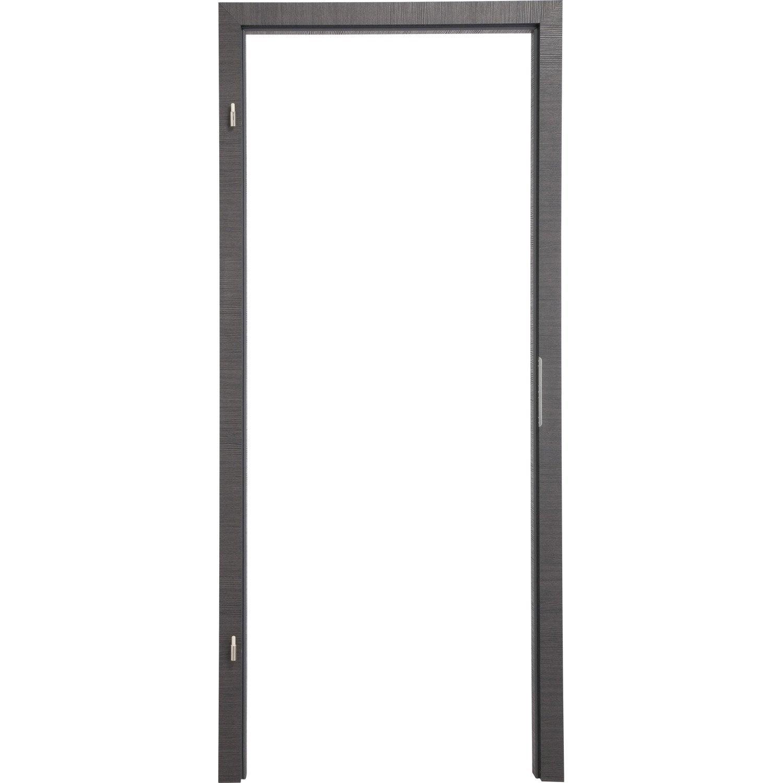 kit brasement pour porte londres 83 cm poussant droit d cor ch ne fum leroy merlin. Black Bedroom Furniture Sets. Home Design Ideas