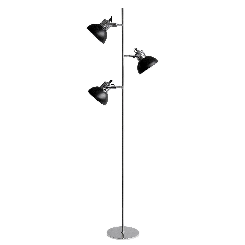 lampadaire charlie 150 cm noir 40 w leroy merlin. Black Bedroom Furniture Sets. Home Design Ideas
