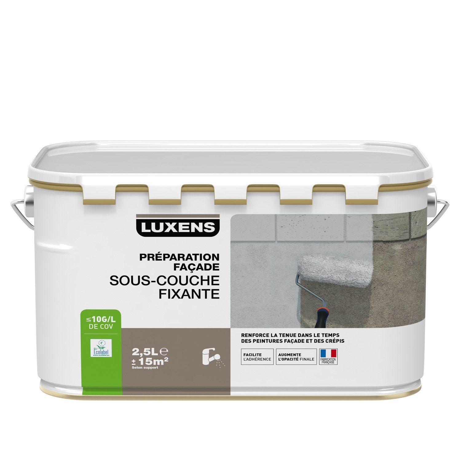 sous couche fa ade luxens blanc gris 2 5 l leroy merlin. Black Bedroom Furniture Sets. Home Design Ideas