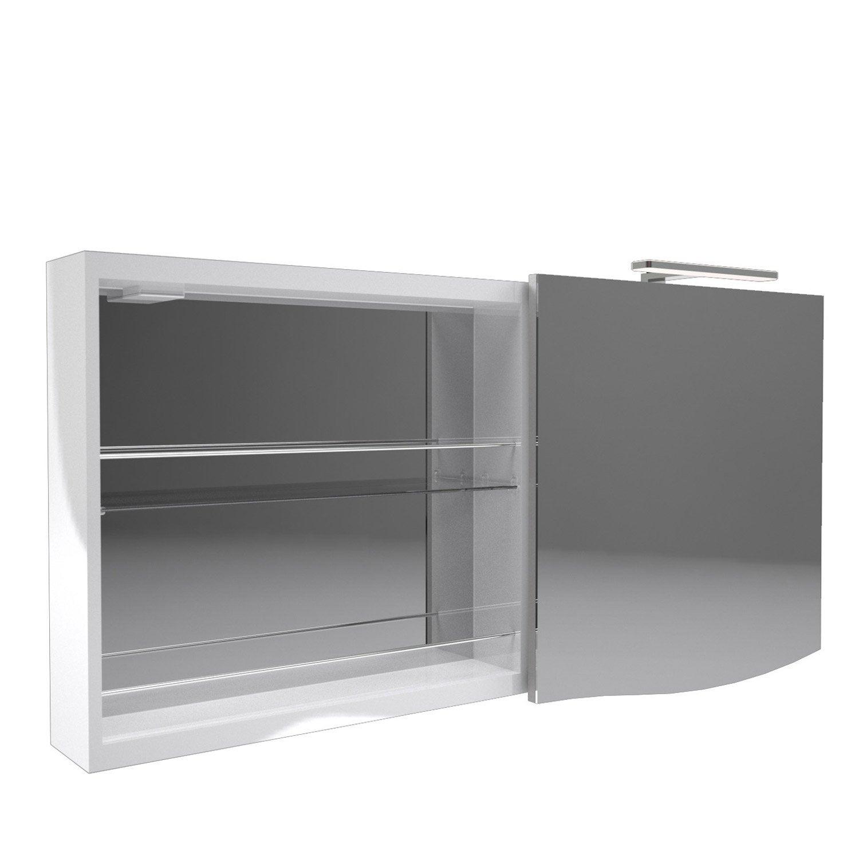 armoire avec clairage int gr el gance decotec leroy merlin. Black Bedroom Furniture Sets. Home Design Ideas