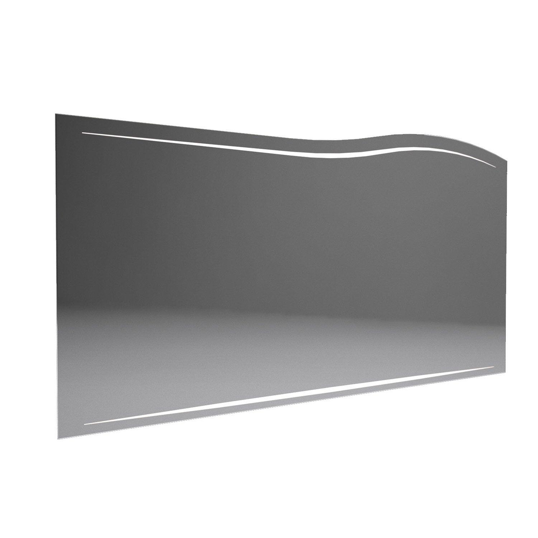 Miroir lumineux avec clairage int gr l 130 cm decotec for Miroir lumineux leroy merlin