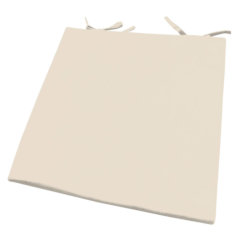 Galette de chaise su de inspire blanc ivoire n 3 x - Chaise blanc d ivoire ...