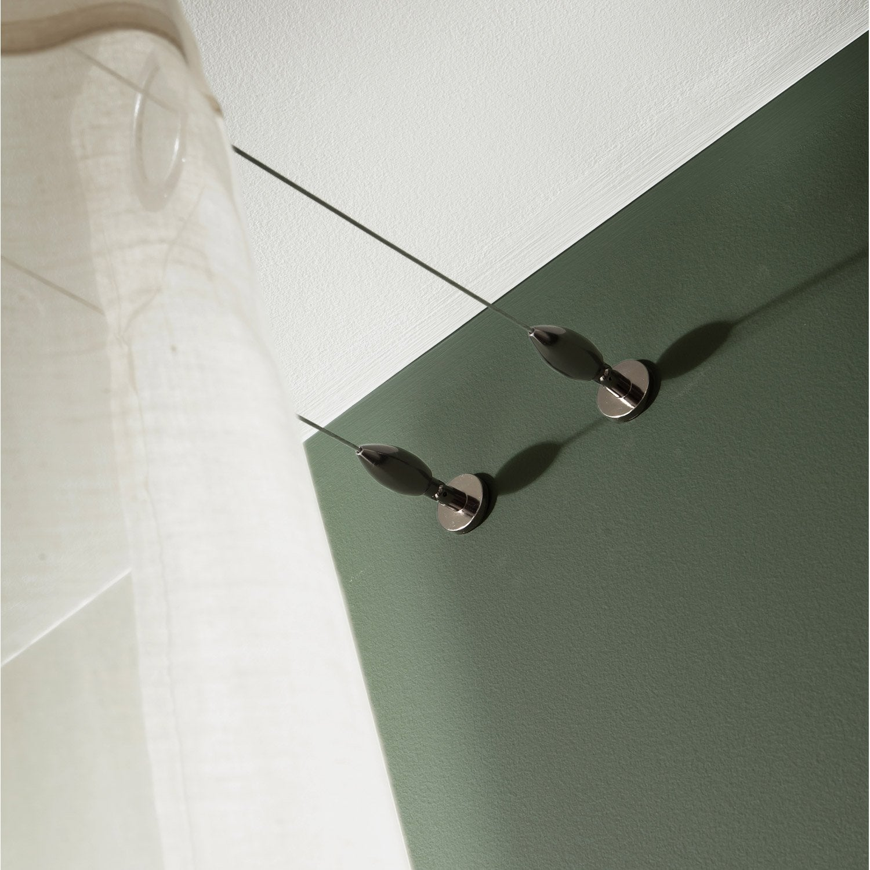 kit complet c ble pour mur et plafond platinium black nickel l 5 m leroy merlin. Black Bedroom Furniture Sets. Home Design Ideas