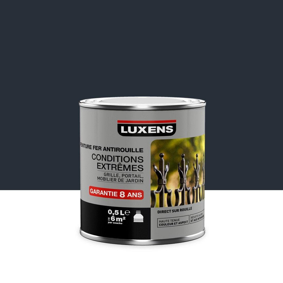 Peinture fer ext rieur antirouille luxens gris anthracite for Peinture bois exterieur gris anthracite